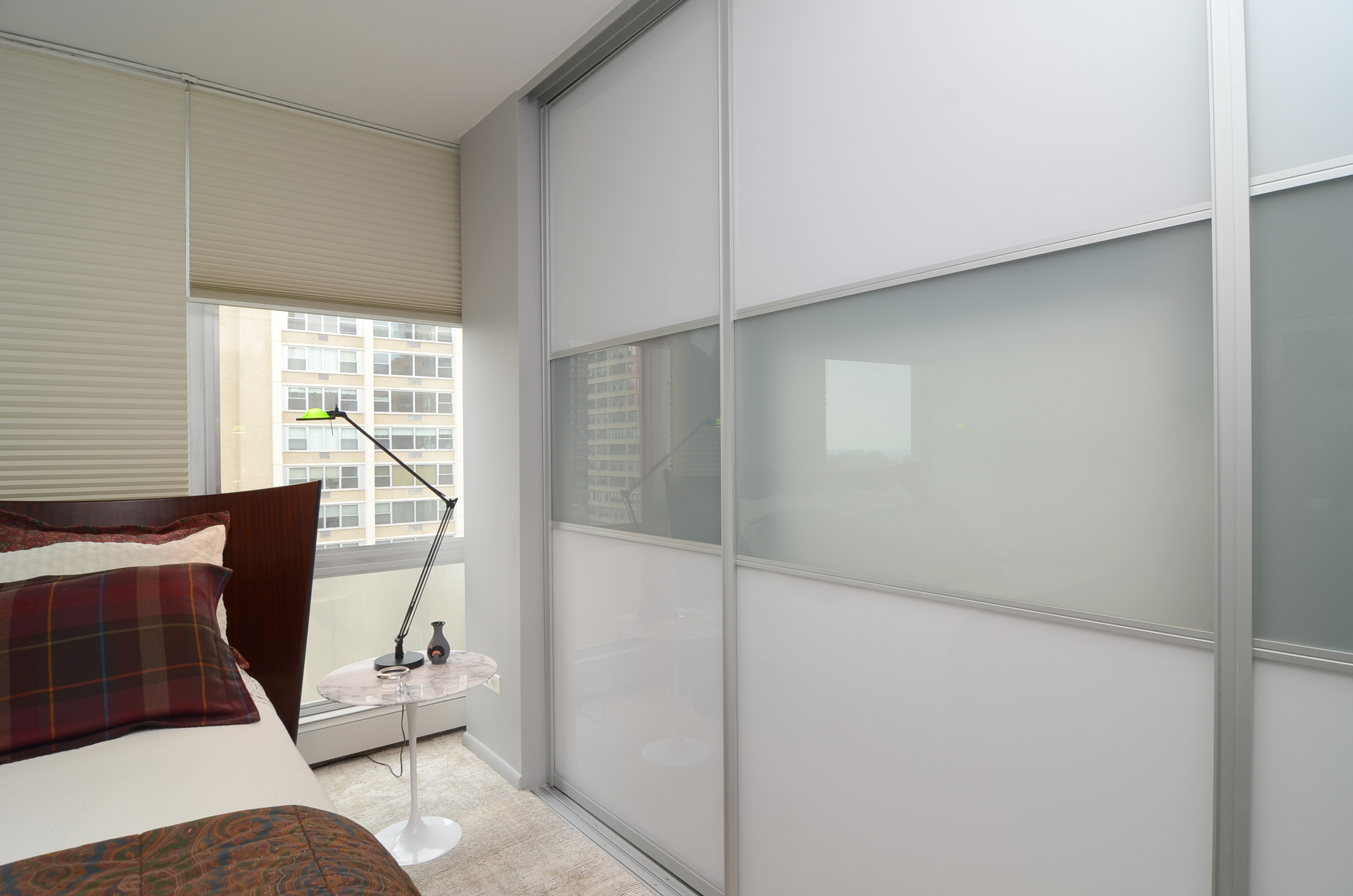 Two-Tone Sliding Gl Closet Doors - Closet Outfitters on