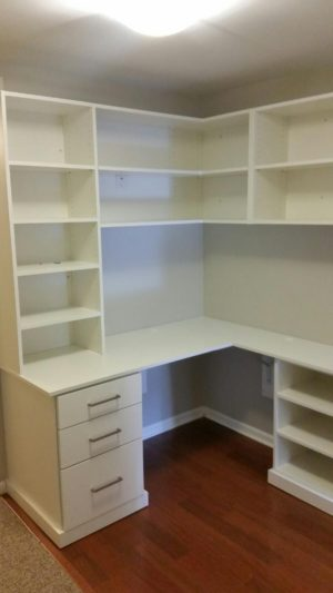 White Built-In Desk Closet Outfitters